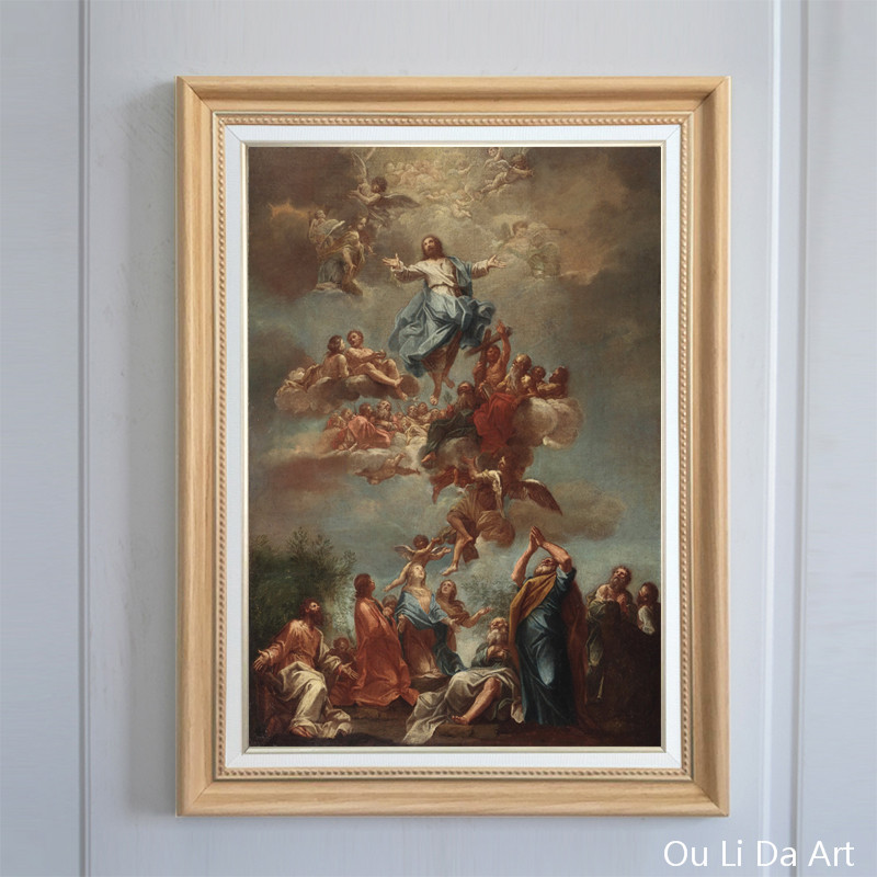 free shipping classical religious figures angels Jesus heaven canvas prints oil painting on canvas wall art decoration picture(China)