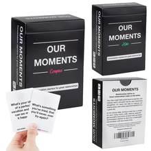 100 pces nossos momentos casais crianças tarô cartões nossos momentos crianças jogos de tabuleiro jogos de papel universais duráveis para os amantes da família