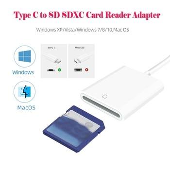 Cable adaptador de lector de tarjetas para Macbook y teléfono móvil/tableta, USB 3,1 tipo C, USB C a SD SDXC, para Samsung Note 10, 20APR14