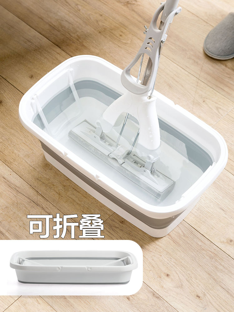 Portable Foldable Mop Bucket Rectangular Vehicle Cleaning Plastic Basin Household Large Size Mop Barrel Water Storage Tank