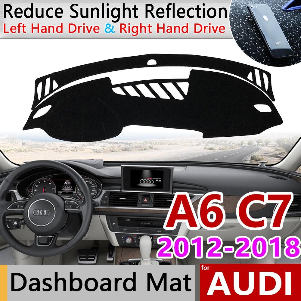 Для Audi A6 C7 2012 ~ 2018 4G Противоскользящий анти-УФ коврик на приборную панель солнцезащитный коврик защита аксессуары с покрытием s-линия 2015