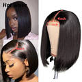 Straight Short Bob Lace Closure Wigs 4x4 Natural Color 1B/30 Straight 100% Human Hair Wigs Brazilian remy hair wigs 150 Density