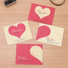 10PCS Western-Style Creative Kawaii Love Heart Small Envelopes Mini Cute Window Envelopes Cartoon Stationery