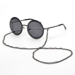 Женские солнцезащитные очки в металлической оправе, классические круглые очки в стиле ретро, UV400