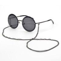 Metal Frame Retro Sunglasses For Women With Fashion Luxury Brand Classic Round Sun Glasses UV400