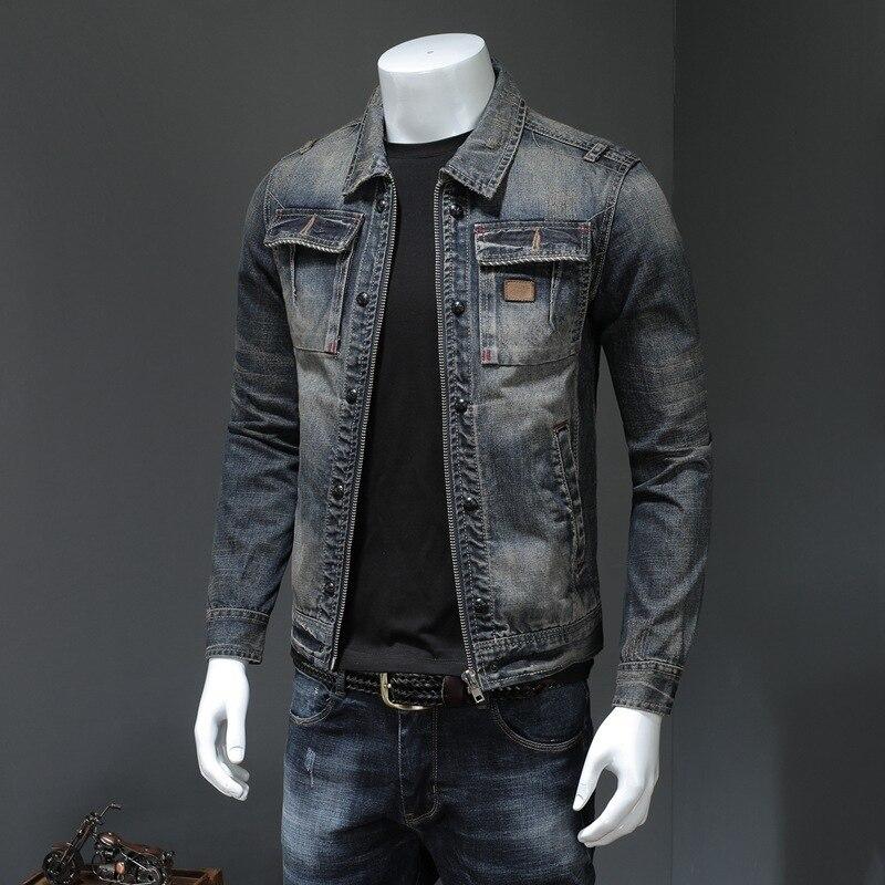 Мужское пальто зима 2020 новый бренд 100% шерсть парка куртка из искусственной кожи большой отложной воротник одежда с буквенным принтом - 3