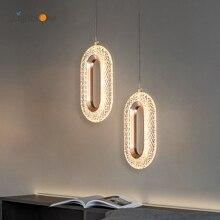 Bedroom bedside pendant lamp minimalist creative living room background wall bar pendant light