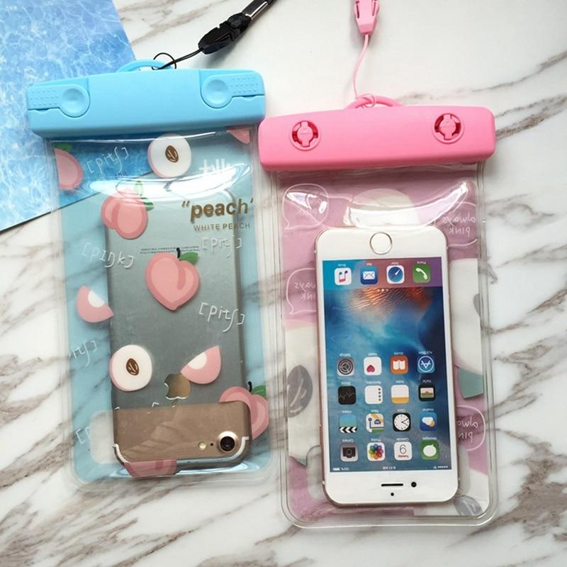 Водонепроницаемый чехол для телефона с изображением фруктов персика, подводный чехол для iPhone 11 Pro Max X 8 7 6 s. Защитный чехол для бассейна