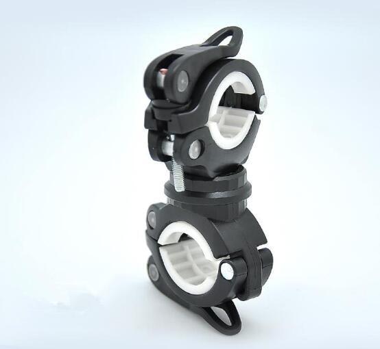 360 Rotation Cycling Bike Flashlight Bracket Mount Holder Lamp Light Clamp Clip