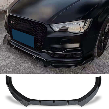 цена на Front Bumper Spoiler Protector Plate Lip Body Kit Carbon Surface Decorative Strip Chin Shovel For Audi S3 A3(S-line) 2014 2015
