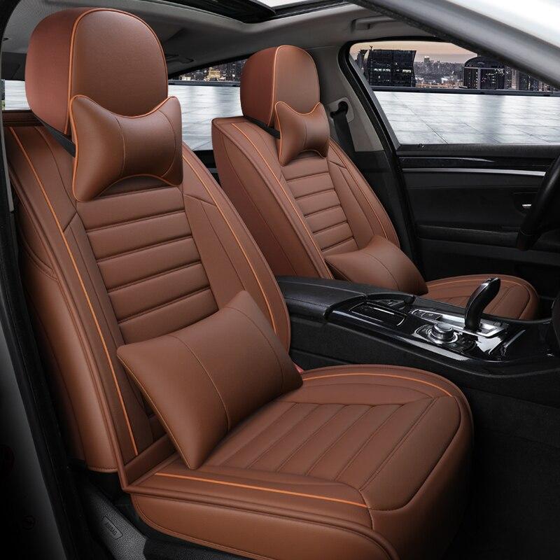 Cobertura completa eco-assentos de automóvel de couro cobre tampas de assento de carro de couro do plutônio para land evoque defender descoberta sport range rover vel