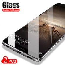 Protector de pantalla de cristal templado 9H para Huawei Mate 9, película protectora de vidrio para huawei mate 9 de 5,9 pulgadas, 2 uds.