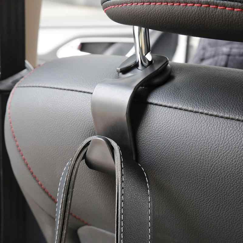 2PCS Auto Kopfstütze Haken Sitz Zurück Aufhänger für Tasche Handtasche Geldbörse Lebensmittelgeschäft Tuch Tragbare Multifunktions Clips Auto Styling Teile