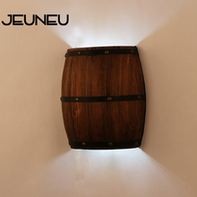 American Vintage Country Wall Lamps Wine Barrel Wall Lights LED E27 80-240V for Bedroom Living Room Restaurant Kitchen Aisle Bar wall lamps vintage led creative cage e27 sconce wall lights for living room bedroom bar 2 pcs vintage black loft iron wall lamp