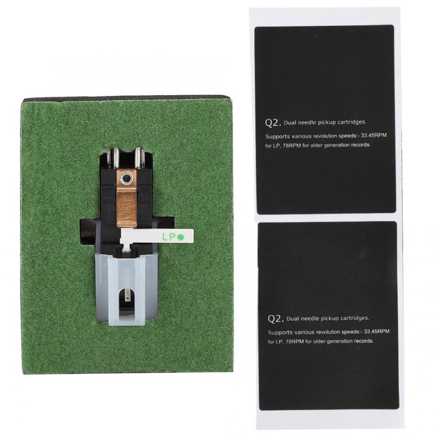 ターンテーブルカートリッジアクセサリーデュアル針ステレオスタイラス電磁蓄音機ヘッドレコードプレーヤー用アクセサリー
