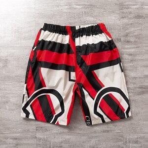 Loose Sport Shorts Men Cool 2020 Summer Printed Short Pants Hot Sale Sweatpants No belt Elastic Waist Sandy beach Shorts Male