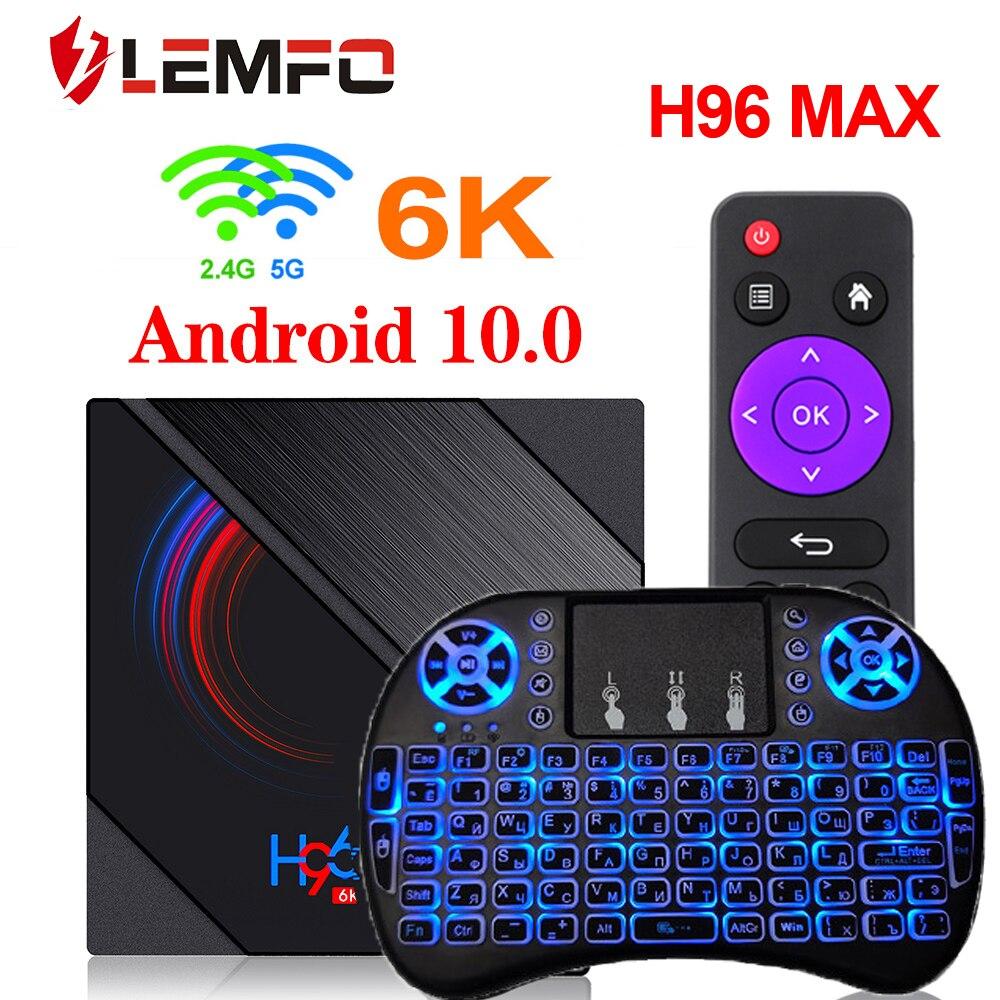 ТВ-приставка LEMFO на android 10, 4 + 64 ГБ, 6K 2020, Wi-Fi 2,4/5,8 ГГц
