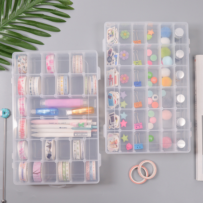 36 Grids Removable Tape Washi Tape Pens, Stationery, Beads Craft DIY Sundries Organiser Box