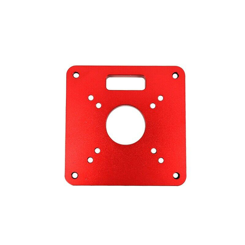 1pc Red Trimming Machine Flip Board Universal Aluminum Router Table Insert Plate For Trim Router Woodworking Engraving Machine