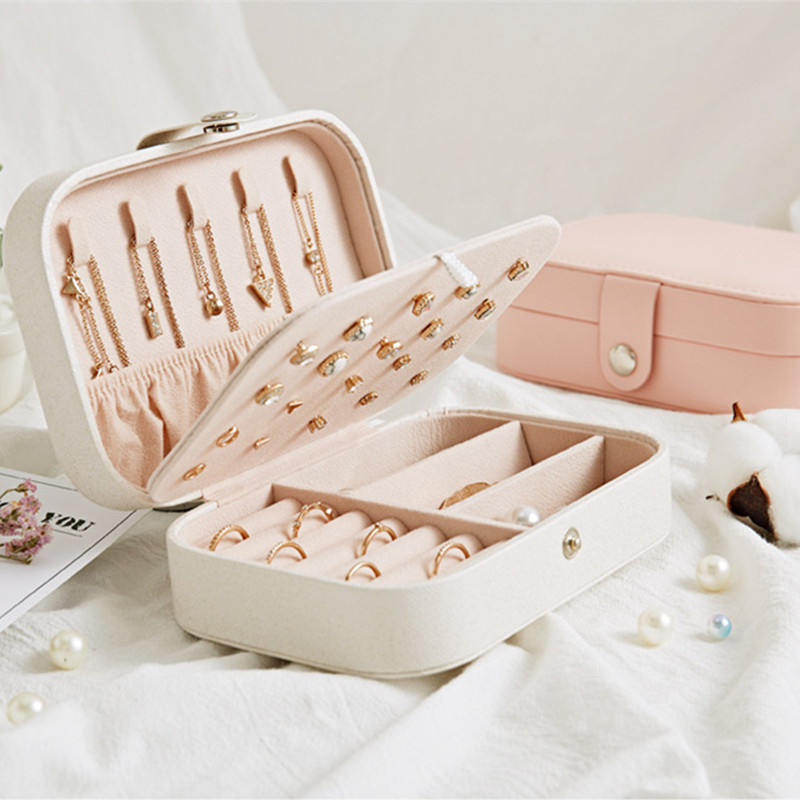 Fashion Simple Girl Earring Board Jewelry Box Earring Ring Necklace Multifunctional Jewelry Storage Box Cosmetic Tool Box