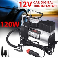 12V Portable Car Electric Inflator Pump Air Compressor 80PSI Electric Tire Tyre Inflator Pump for for Auto Bicycles Motorcycle|Aufblasbare Pumpe|Kraftfahrzeuge und Motorräder -