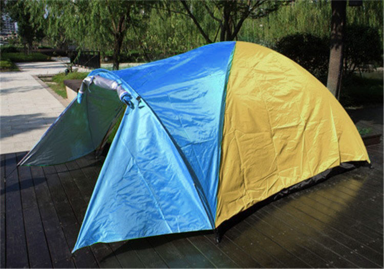 3-4 Person Large Double Layer Tent for Outdoor Camping Hiking Hunting Fishing Travel Picnic Tourist Emergency Tent 320x210x145cm (15)