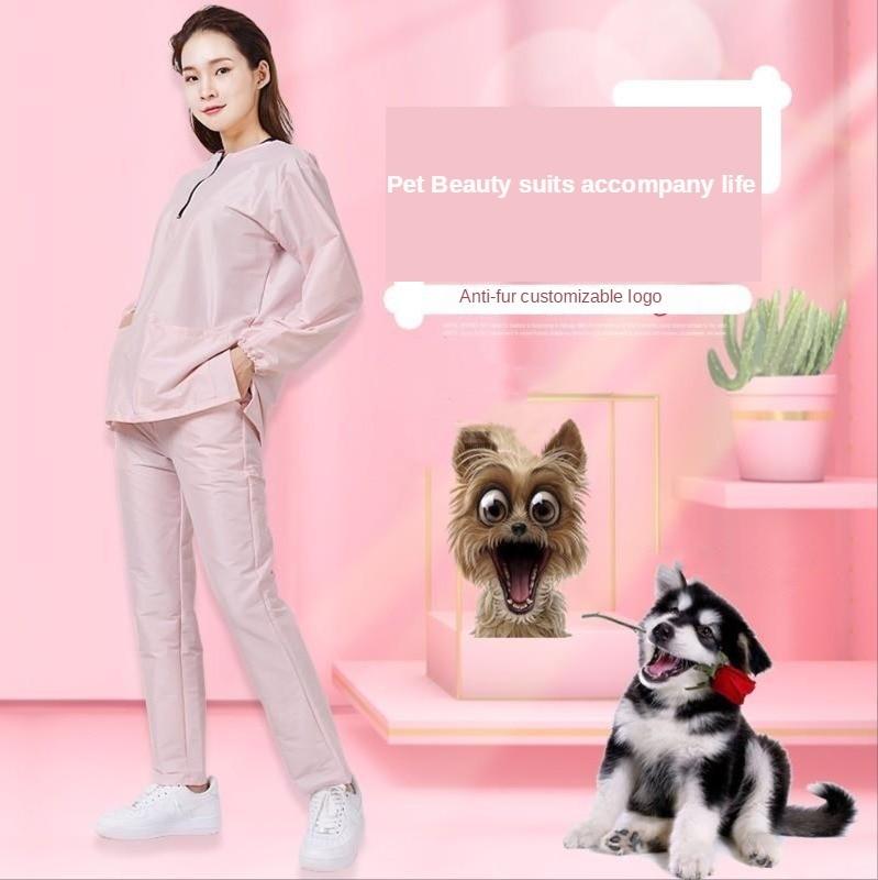 Антистатическая косметичка для домашних животных, рабочая одежда, фартук для собак, ножницы для стрижки, магазин для домашних животных, красивый халат, платье, аксессуары для собак G0109|Шапочки, фольга и обертки|   | АлиЭкспресс