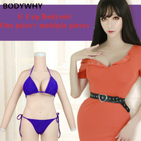 G Cup Realistic Silicone Whole bodysuit with Breast Forms Fake Boobs Crossdresser Shemale Artificial Cosplay Latex Shapewear