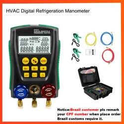 DY517 цифровой манометр холодильное цифровое вакуумное Давление Коллектор тестер метр HVAC температура тестер