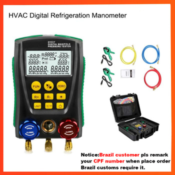 DY517 デジタル圧力ゲージ冷凍デジタル真空圧力マニホールドテスターメーター HVAC 温度テスター -