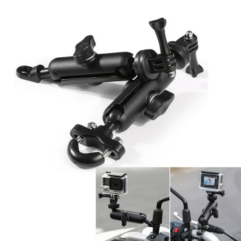 Motorcycle Camera Holder Handlebar Mirror Mount Bracket For SUZUKI VSTROM DL650 GLADIUS GSX S1000F GSXR 750 SAMURAI SV650S GSXF image