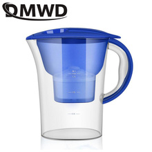 DMWD Household Direct Drink Net Kettle Kitchen Faucet Tap Water Purifier MINI portable Activated carbon Cups Filter Pitcher 2.5L