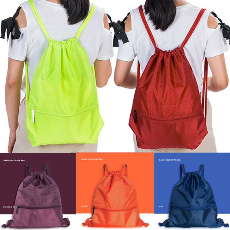 2020 New Honeycomb Drawstring Bag Cinch Sack Backpack String Drawstring Backpack Gym Bag Tote School Sport Travel Drawstring Bag