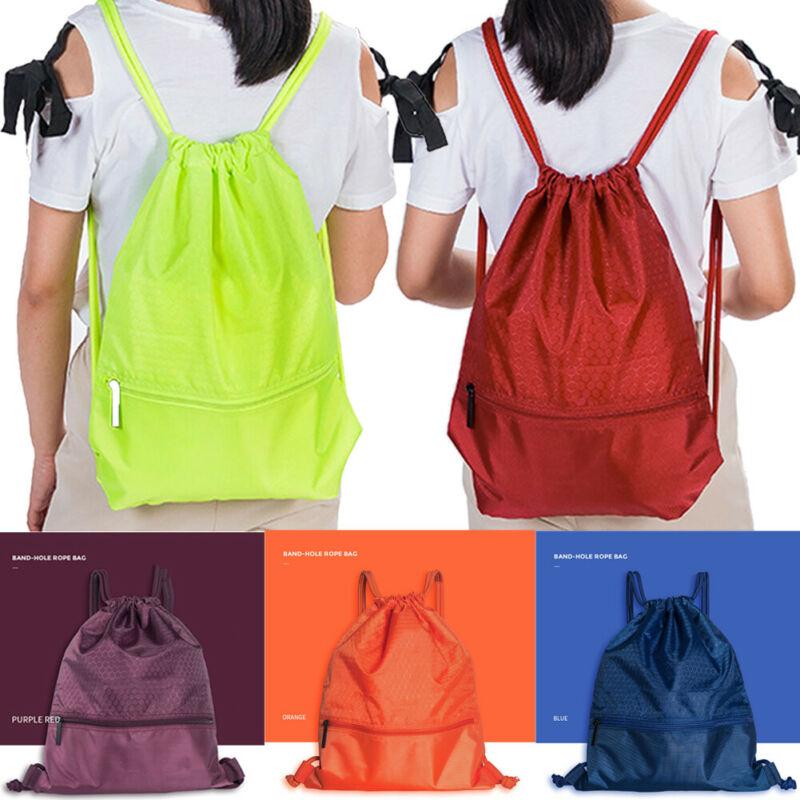 2020 New Honeycomb Drawstring Bag Cinch Sack Backpack String Drawstring Backpack Gym Bag Tote School Sport Travel Drawstring Bag