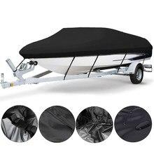 Housse de bateau étanche et résistante, 1 ensemble, housse de bateau, Anti-UV, 210D, en toile, accessoires de bateau, 11- 22 pieds