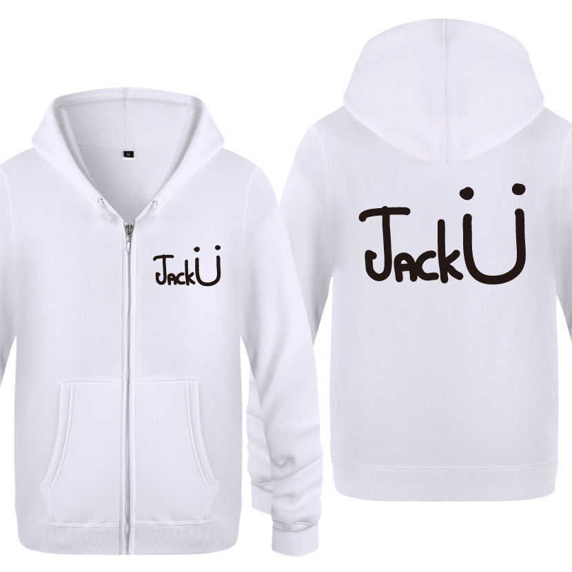Jack U <font><b>Skrillex</b></font> Music Rock <font><b>Hoodies</b></font> Men 2018 Men's Fleece Zipper Cardigans Hooded Sweatshirts image