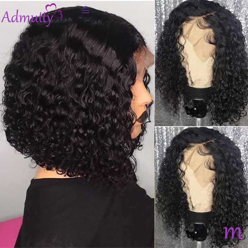 Lace Front Human Hair Wigs For Black Women Malaysian Deep Wave Bob Lace Front Wig With Baby Hair Wet And Wavy Hd Transparent