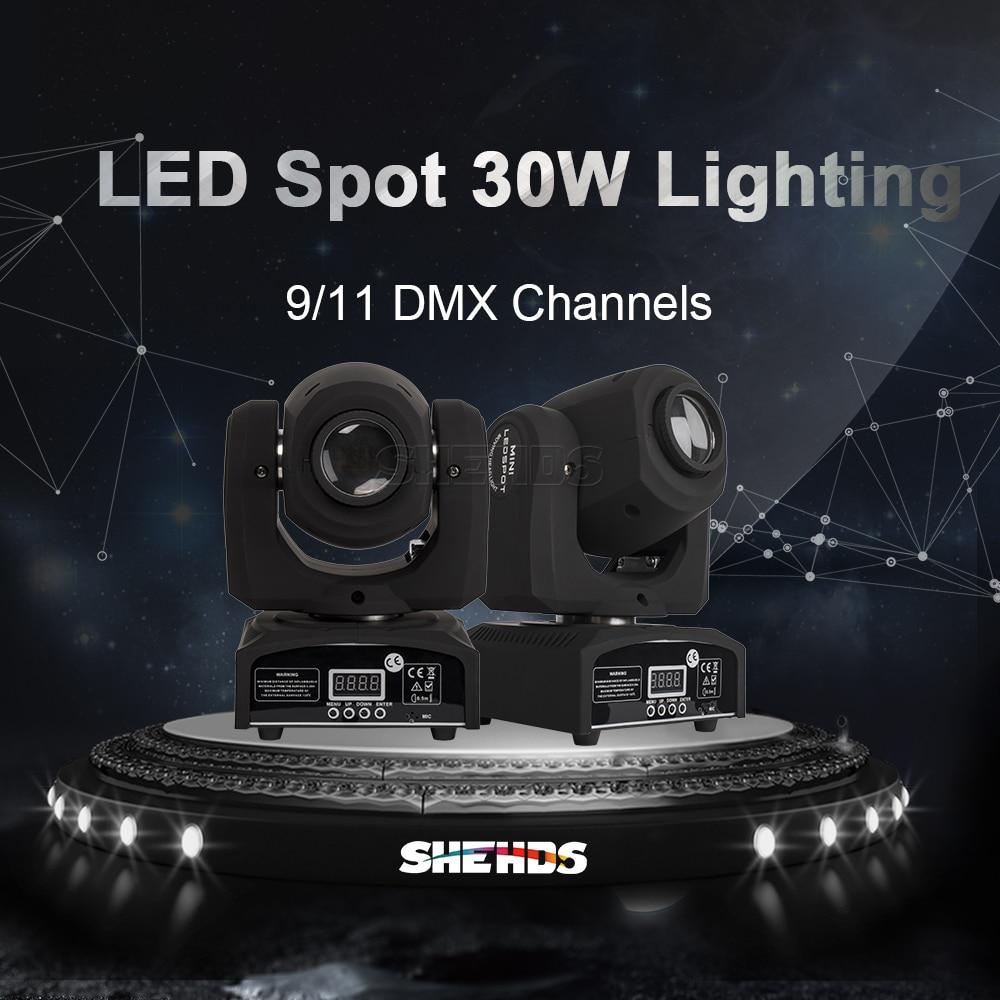 SHEHDS LED 30W Gobo Spot Moving Head Light DMX 512 Stage Light Dj Disco Party Effect Lighting