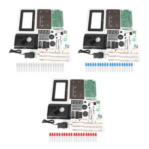 Image 2 - ECL 1227 電子時計 diy キットカレンダー温度表示 led デジタルパネル