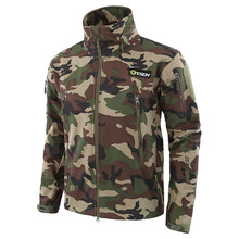 ESDY Brand Shark Skin Soft Shell Military Tactical Jacket Men Waterproof Army Fleece Clothing Multicam Camouflage Windbreakers(China)