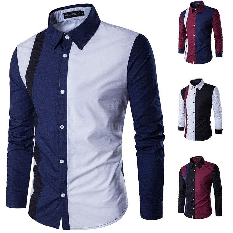 Zogaa 2019 New Spring Autumn Men Long Sleeve Shirt Cotton Business Office Men's Full Sleeve Shirt Fitness Men's Dress Shirts