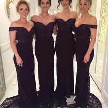Dress Bridesmaid-Dress Sweetheart Ball Lace Mermaid Chiffon Sleeveless Small New Black