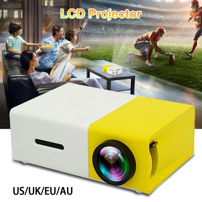 YG300 Built-in Battery Version LCD Portable Mini Pocket Projector Full Hd 1080P 600 Lumens Home LED Media Player Compatible