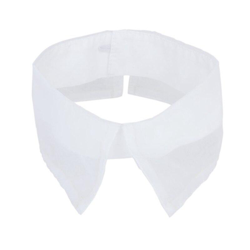 Organza-Pointed Vintage Neckline Collar Dress Decoration - White