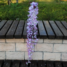 1pcs 60cm Home Fashion Artificial Hydrangea Party Romantic Wedding Decorative Silk Garlands of Flowers Wisteria