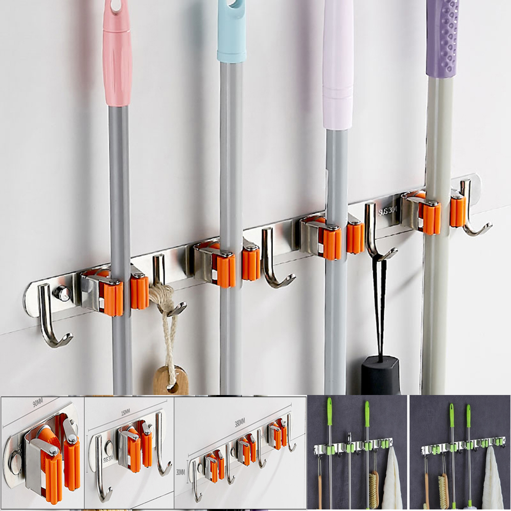 Broom Hanger Clips For New Hanging Bathroom And Kitchen Organizer Tool 4