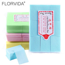 FlorVida 1 Pack Lint Free Nail Wipes Art Gel Polish Remover Tools For Manicure Care Cleaner Pink Paper Pads Soak Off Accessories