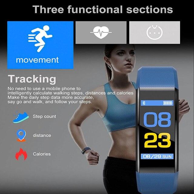 Inteligentny monitor aktywności fizycznej w zegarku męskie kobiety * tętno * monitor IPS w pełni dotykowy ekran sportowy zegarek bieganie krokomierz