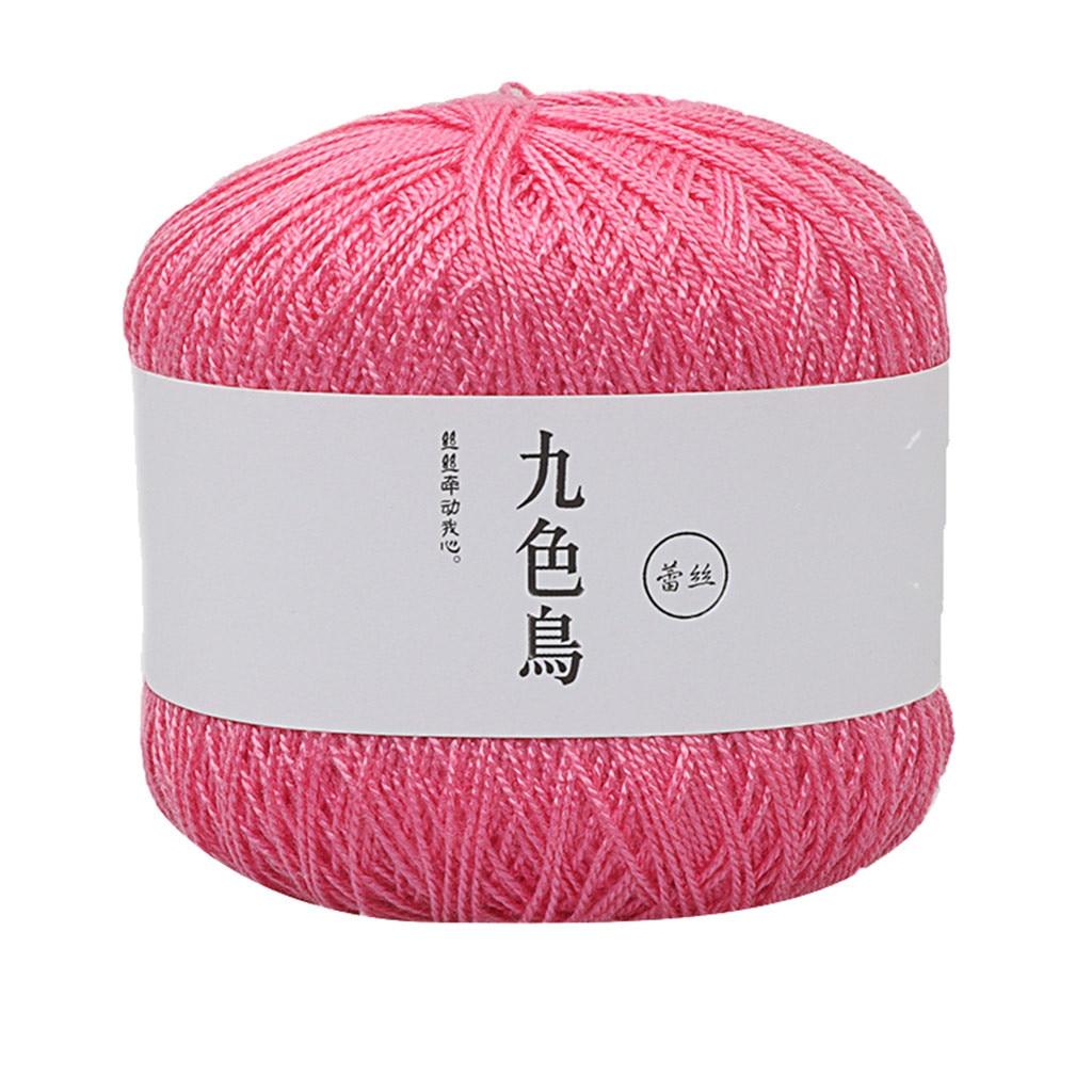 25 цветов кружевная нить для творчества, тканая хлопчатобумажная нить, пряжа для вязания крючком, 8 мягких хлопчатобумажных вязальных шерстя...
