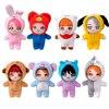 Kpop Star Plush Handmade Doll Celebrity Stuffed Toy RM Jin SUGA J-Hope Kim Tae Hyung Jimin Animal Clothes Fans Gift